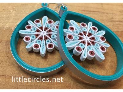 Quilling Tutorial: Suspended Snowflake Earrings