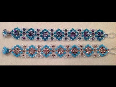 Quilted Crystal Bracelet Tutorial