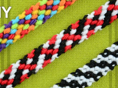 Rag Rug Friendship Bracelet. DIY Tutorial