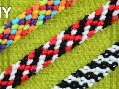 Rag Rug Friendship Bracelet. DIY Tutorial