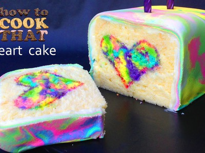 Rainbow Tie Dye Surprise Cake Heart HOW TO COOK THAT Ann Reardon