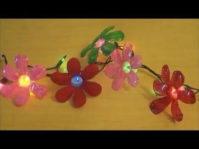 Recycle : Plastic Water Bottle Flowers - Diy