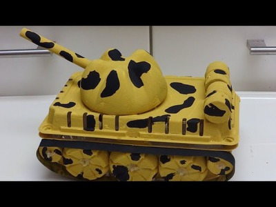 Recycled Art and Crafts for Kids: Making a Military Tank