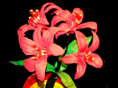 Recycled DIY: How to make Nerine flowers with waste water bottles?