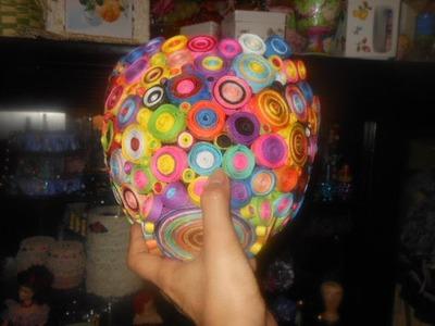 Rolled Paper Flower Vase