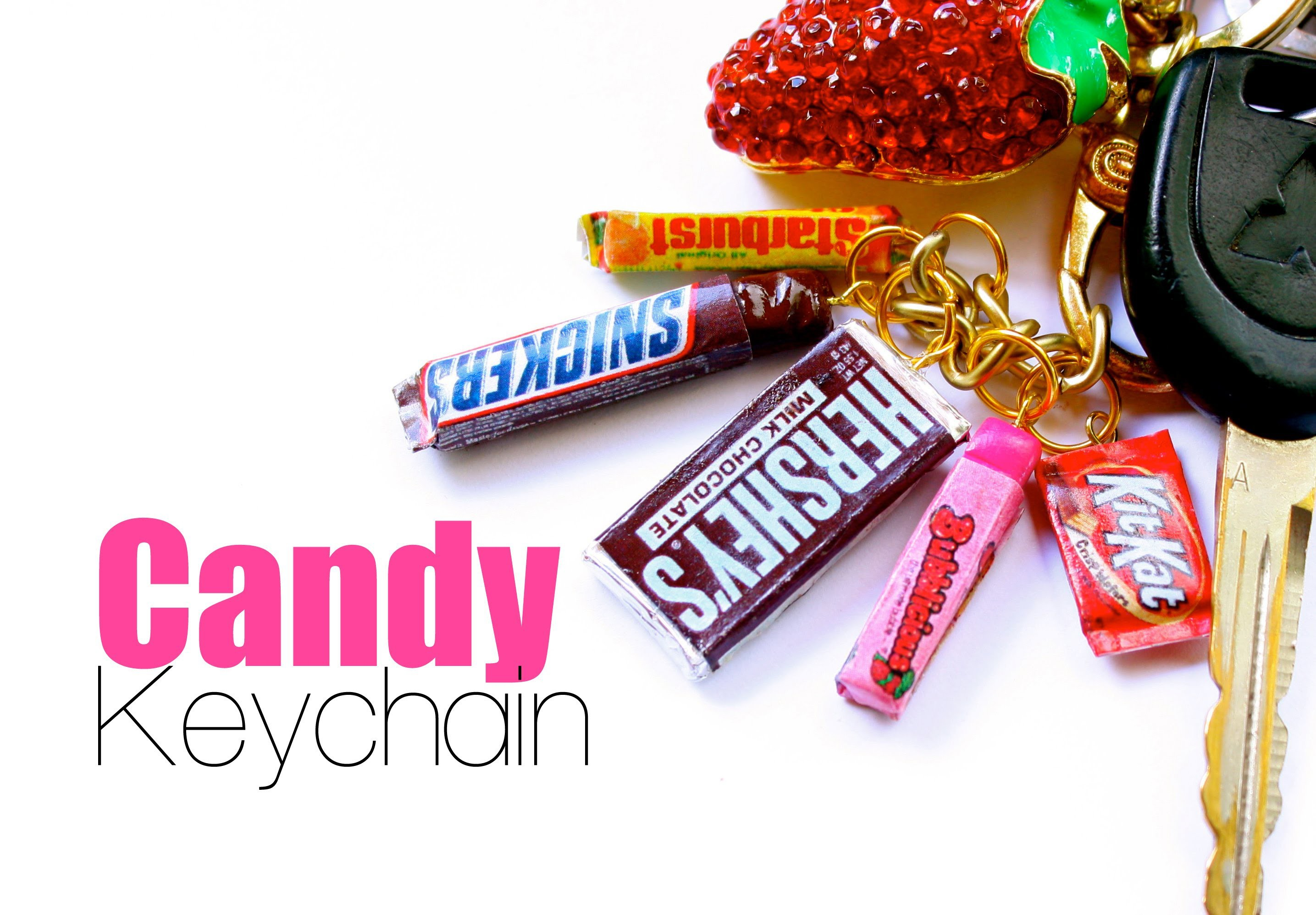 Scented Candy Bar Key Chain Charms - Polymer Clay Food Jewelry Tutorial