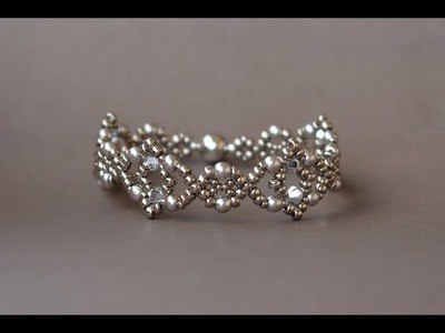 Sidonia's handmade jewelry - Losange Bracelet - Beading tutorial