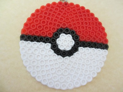 Simplistic Perler Bead Pokeball tutorial