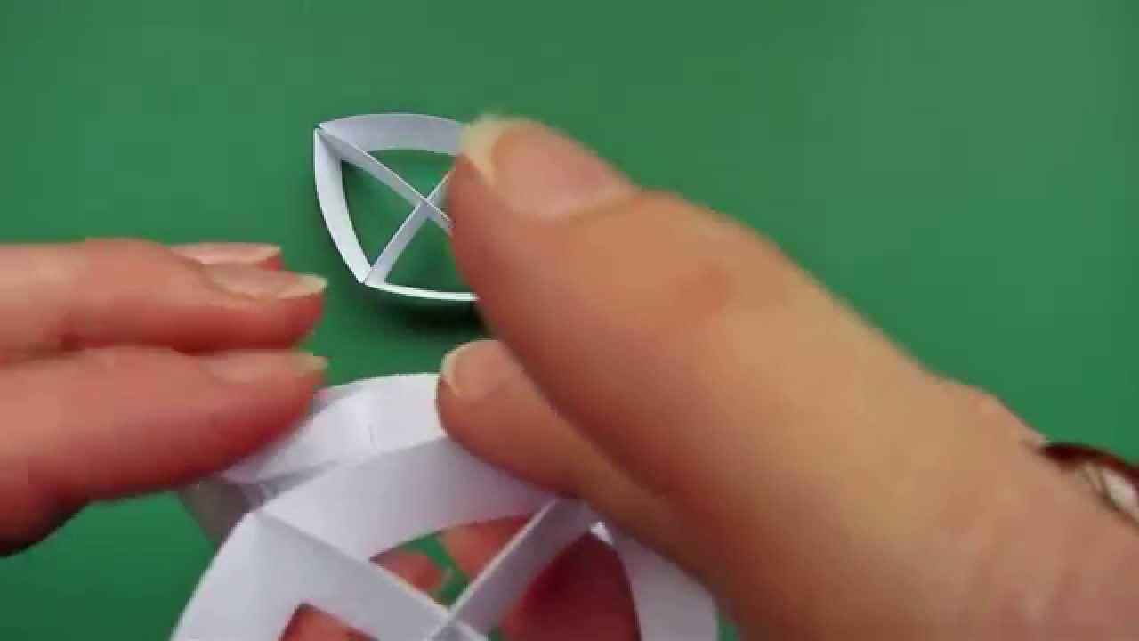 Sliceform - papercraft - kusudama - 15 great circles - tutorial - dutchpapergirl