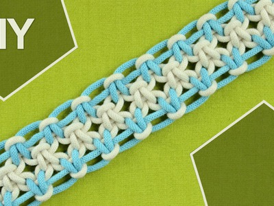 Square knot variations with eight strings. DIY Tutorial