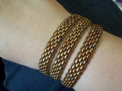Super Duo Peyote Stitch Wrap Bracelet