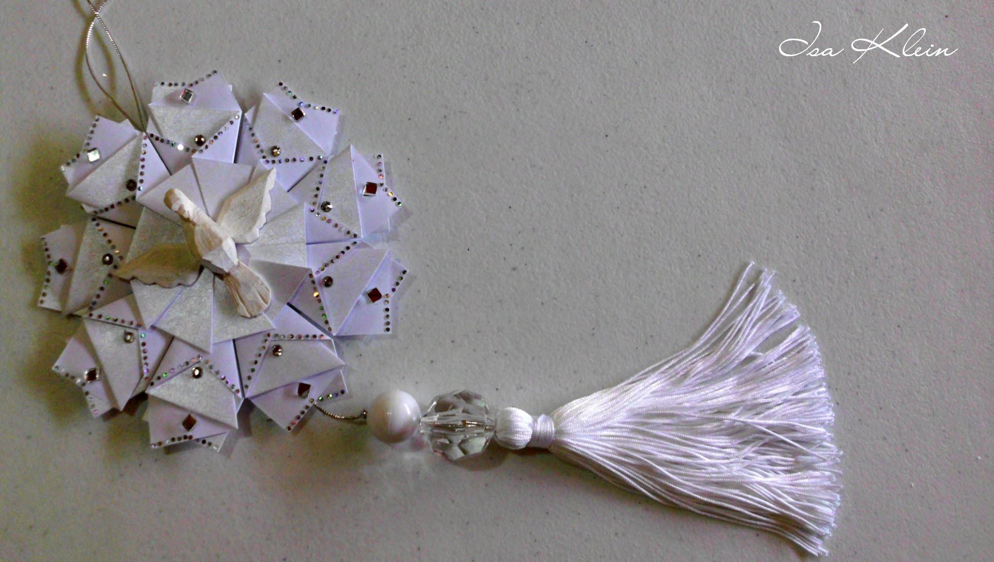 Tassel (franja) com nó invisível - Tassel with invisible knot