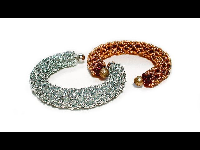 Tutorial: beads style №2 for pandora bracelet. Жгут из бисера для пандоры