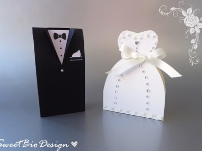 Tutorial: Bomboniere Abiti da Matrimonio - Wedding dresses favors
