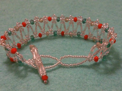"Tutorial, netted ""candy"" bracelet, by sunrise.flare"