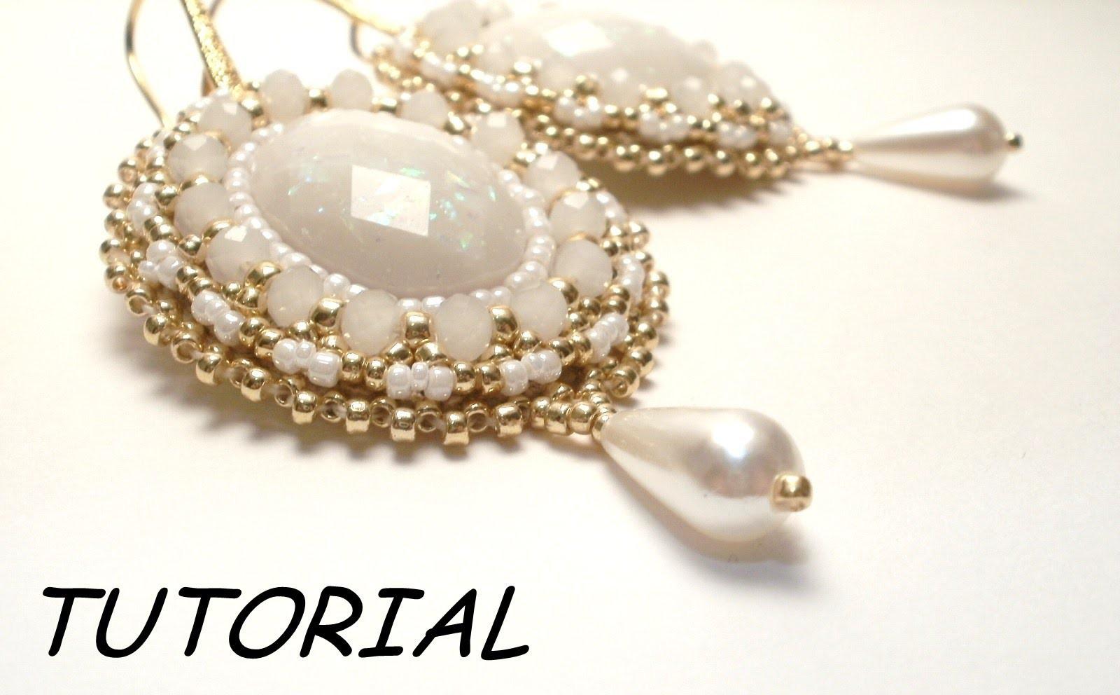 TUTORIAL orecchini embroidery | Bead embroidery TUTORIAL