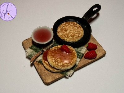 Tutorial: Pancake in fimo (miniature strawberry pancake in polymer clay) [eng-sub]