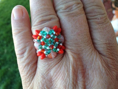 (Tutorial) Solo Beaded Christmas Ring (Video 11)