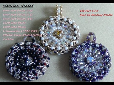 (Tutorial) Starburst Beaded Pendant (Video 5)