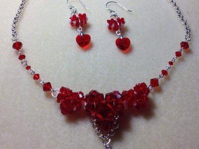 (Tutorial) Sweet Love Hearts Necklace & Earrings (Video 28)