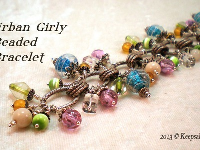 Urban Girly Bead Dangle Bracelet Video Tutorial