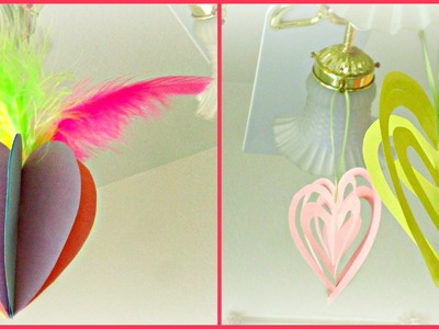 *Valentine's Day Crafts*: 3D Heart Ornaments!