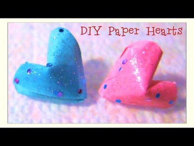 Valentine's Day Crafts - DIY 3D Glittered Paper Hearts Confetti Tutorial - Paper Crafts for Kids