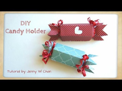 Valentine's Day Crafts - DIY Paper Candy Holder, Treat, Roll Box - Birthdays, Party Favors