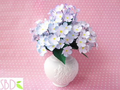 Vaso di Fiori di carta (home decor) - DIY Paper flowers Vase