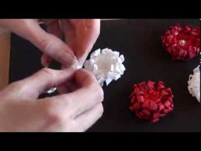 Wild Orchid Crafts - paper flower tutorial and simple Christmas cards.