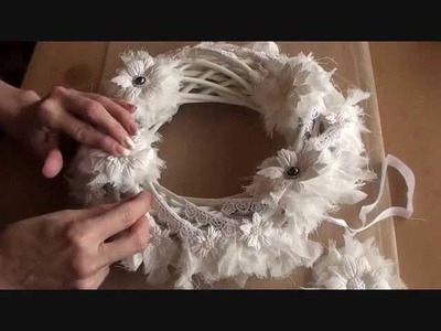 Wild Orchid Crafts - Shabby Christmas Wreath Tutorial
