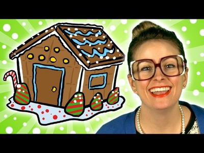 Winter Crafts! How to Make a Gingerbread House - Arts & Crafts (Cool School)