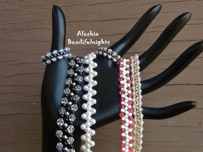 Zigzag Beaded Bracelet, Anklet and Ring Tutorial