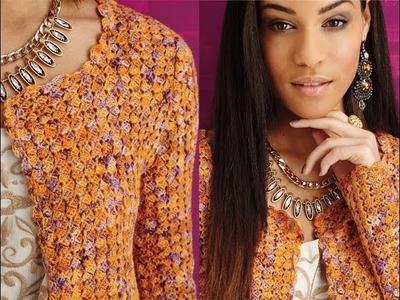 #12 Lacy Jacket, Vogue Knitting Crochet 2014