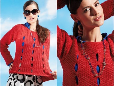 #17 Long-Sleeve Pullover, Vogue Knitting Early Fall 2014