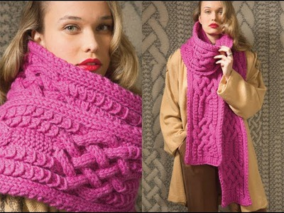 #18 Oversized Scarf, Vogue Knitting Fall 2012