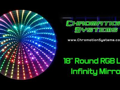 "18"" Round RGB LED Infinity Mirror, DIY"