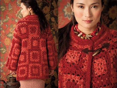 #28 Granny Square Coat, Vogue Knitting Crochet 2012