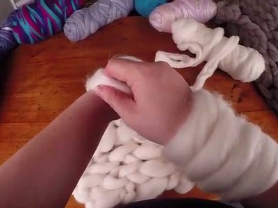 Arm Knitting with wool tops (sliver)