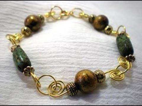 Beaded Spiral Wire Bracelet Tutorial