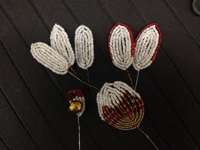 Blumen aus Perlen. Orchidee, Teil 2.5. Flowers out of beads. Anna's Perlen.
