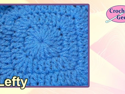 Chainless Corner Crochet Square - Left Hand Verson Crochet Geek