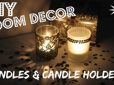 CHRISTMAS GIFT IDEAS - DIY Candles & Candle Holders | Cute Room Decor Ideas