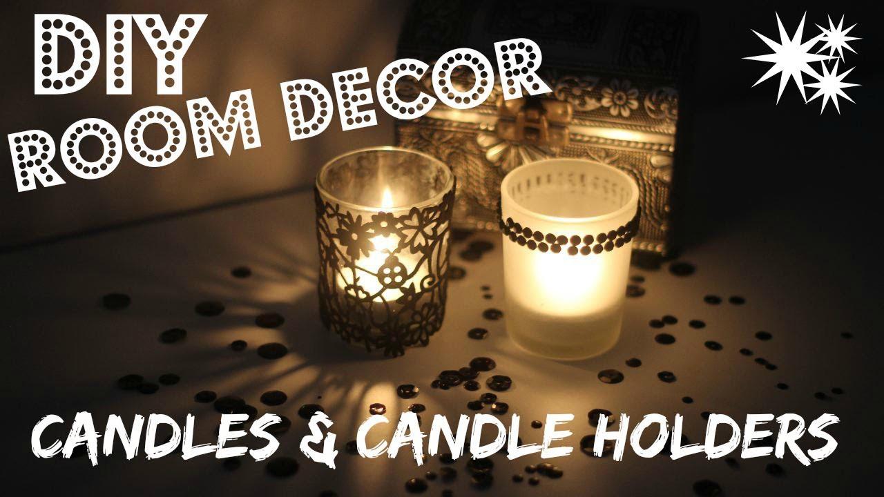 CHRISTMAS GIFT IDEAS - DIY Candles & Candle Holders | Cute Room Decor Ideas