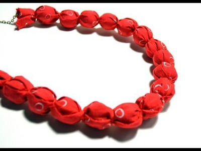 Collar de tela - Fabric necklace