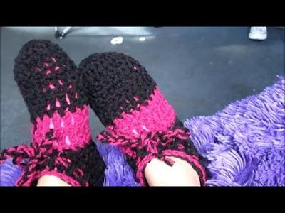 Como hacer pantunflas con gancho