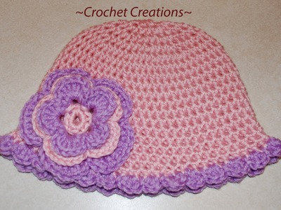 Crochet a Basic Hat Tutorial - Half Double Crochet - Newborn to Adult size Part II