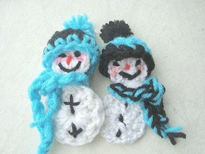 CROCHET A SNOWMAN ORNAMENT.wmv