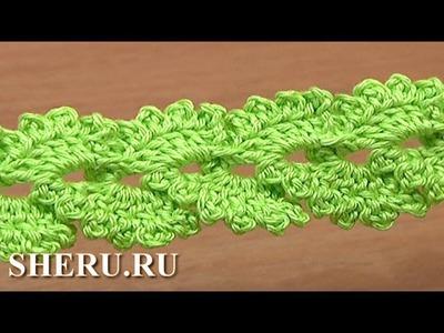 Crochet Braid Cord with Picots Урок 14 Вязание крючком