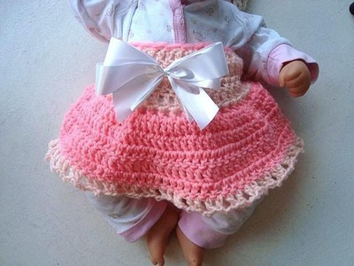 CROCHET DIAPER COVER SKIRT, for baby, crochet pattern